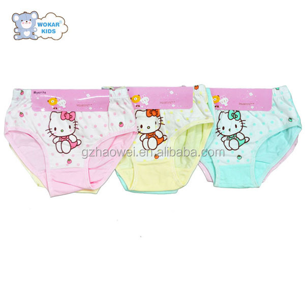 100% cotton cartoon Children underwear for girls