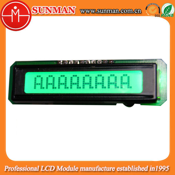 8 characters Custom Green lcd panel for radar