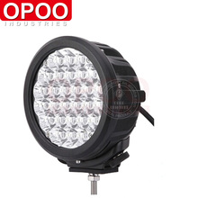 Black/ Red color IP68 7inch 140w great white round led driving light with spot light