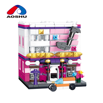 Educational 310 pcs city street style toy 3D odeum model modular building blocks for children