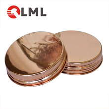 Custom Cheap Glass Canister Stainless Steel Lid, Chrome Jar Lid Manufacturer, Glass Mason Jar Copper Lid