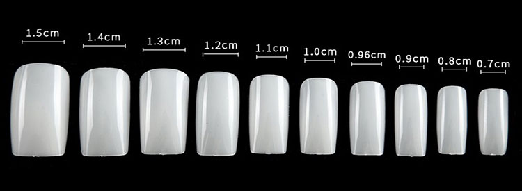 Full-covered Oval Artificial Fingernails Round Fake Acrylic Nail Tips