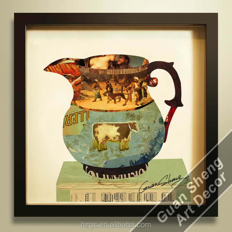 GuanSheng CH004 abstract still life wall art 3d oil painting