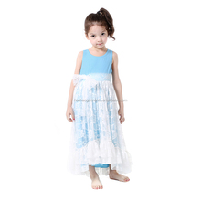 Kids Wear Wholesale Sleeveless Lace Party Dress Baby Girls Frocks Pictures