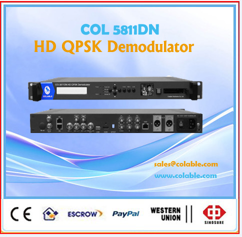 Single channel ip point to point link headend Decoder out for SDI/HD MI /CVBS COL5811DN