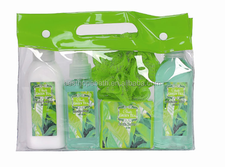 Body Mist/Body Shower Gel spa gift with bag