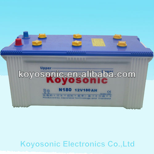 JIS Standard12V 180AH Car Battery Automotive Battery with Competitive price