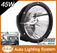 Chinese Factory 45w cr ee led driving lights round 7 inch for off road jeep suv tractor truck