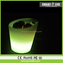 Colorful LED luminous glow ice bucket/wine bar for drink/ice canned beer ice bucket