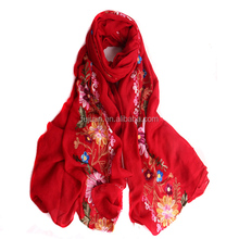 Colors winter cheap embroidery national nepal flower pashmina