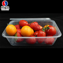 High transparency disposable rectangular pastry box packaging+strawberry packaging box+salad packaging box