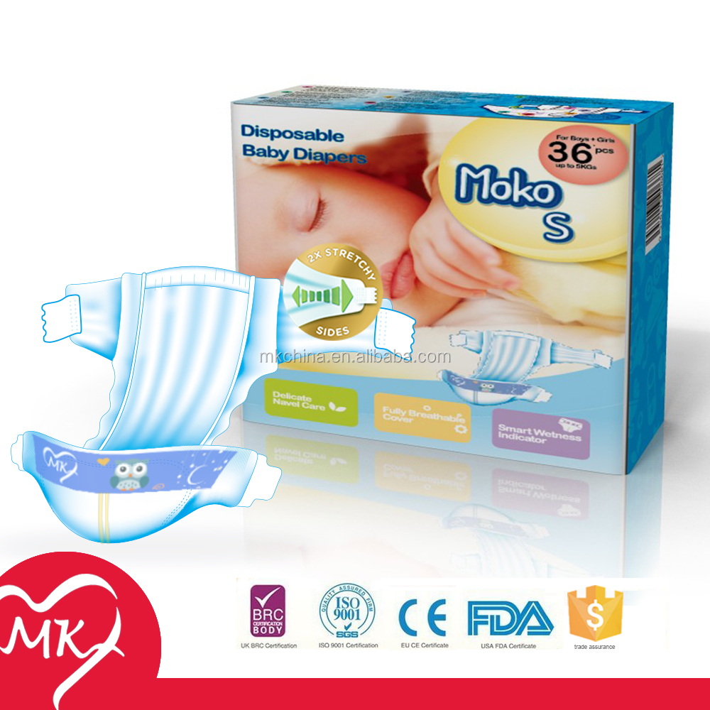 High quality Super soft breathable disposable libero baby diapers wholesale with Elastic side fastener