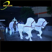 Garden lighting royal horse carriage for sale
