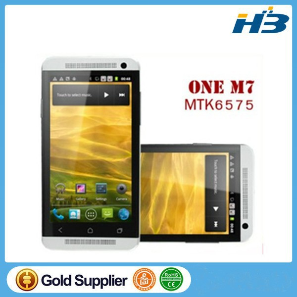 One M7 phone MTK6589 quad core 1.7ghz 3G phone 1.5GB-2GB RAM 16GB/32G Rom Android 4.2.1 13MP with original Logo