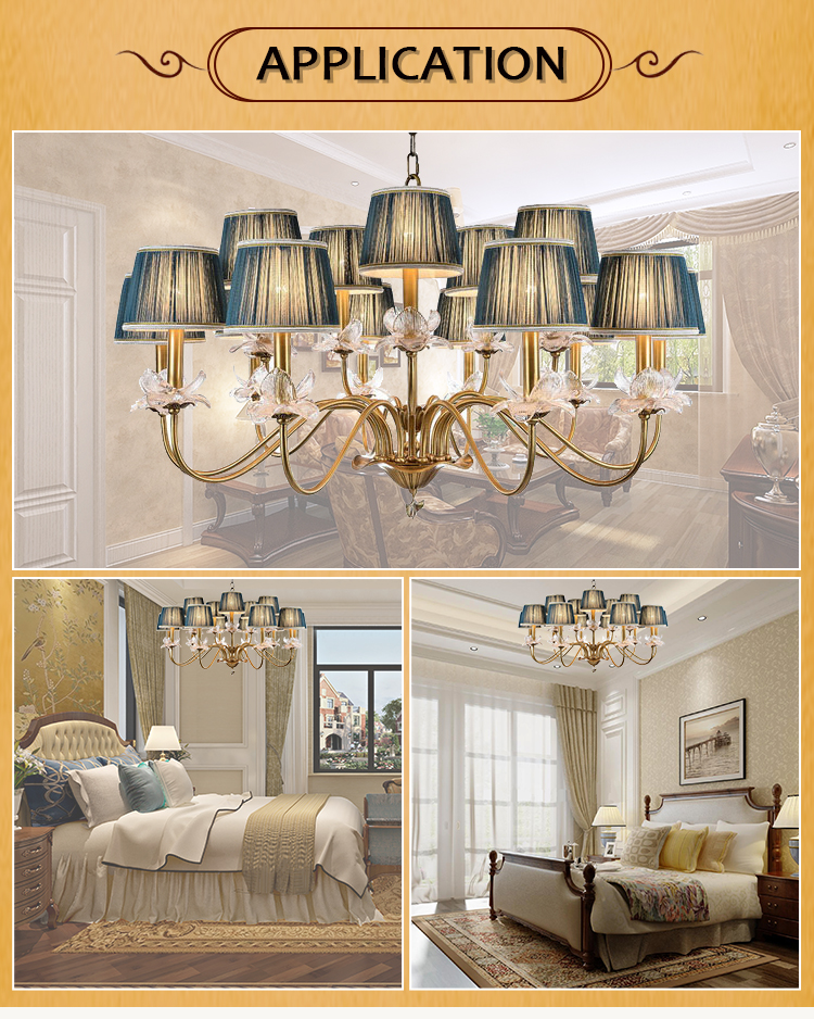 High quality dining room contemporary brass modern round chandelier pendant light