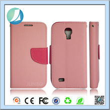 Wholesale flip leather funky mobile phone case for samsung galaxy s4 mini