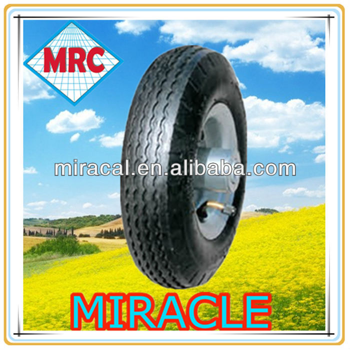 metal rim rubber wheel 2.50-4 High Quality push golf cart wheels