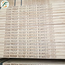 38*225*3900 mm/3950m construction & real estate Melamine WBP Glue pine lvl scaffold board with osha standard