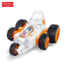 Zhorya kids strong powered remote control toy stunt rolling car with music and light