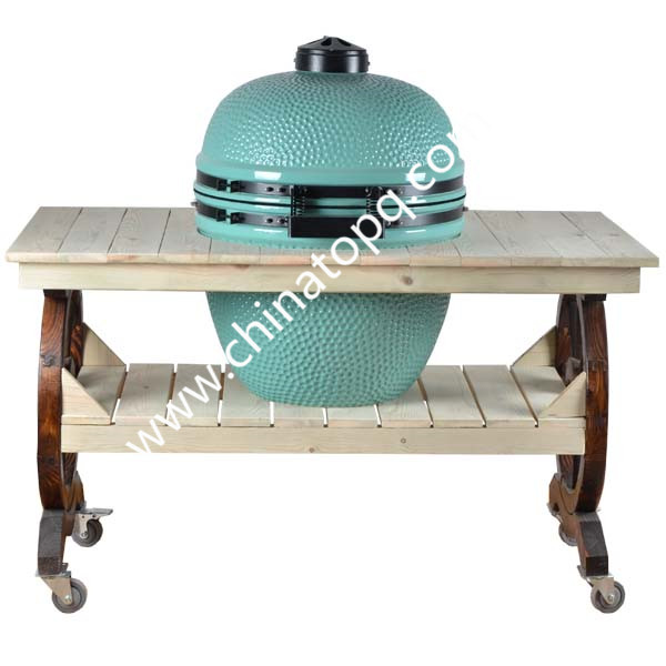 mobile wooden table bbq outdoor kitchen bbq cart buy