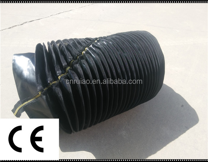 linear flexible accordion guide rubber bellows for plasma cutting