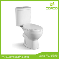 Bathroom furniture gravity flush two piece toilet wc ceramic toilet pot with cheap price
