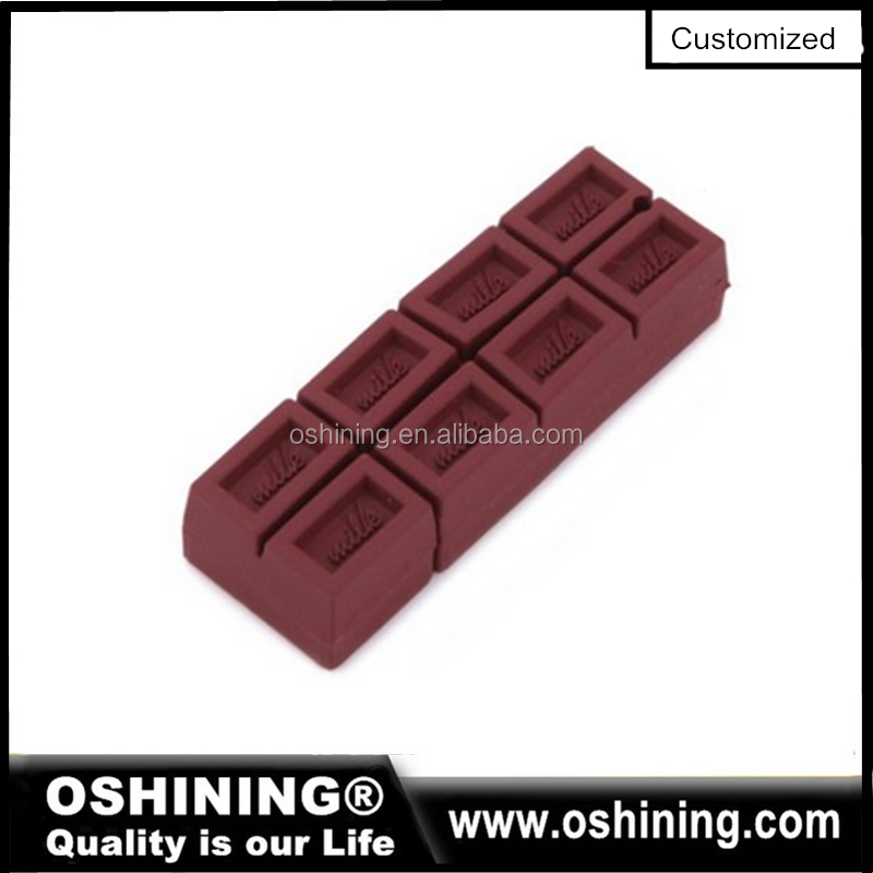 Chocolate Shape USB Flash Drive for Christmas Gift Chocolate Bar USB Pen Drive
