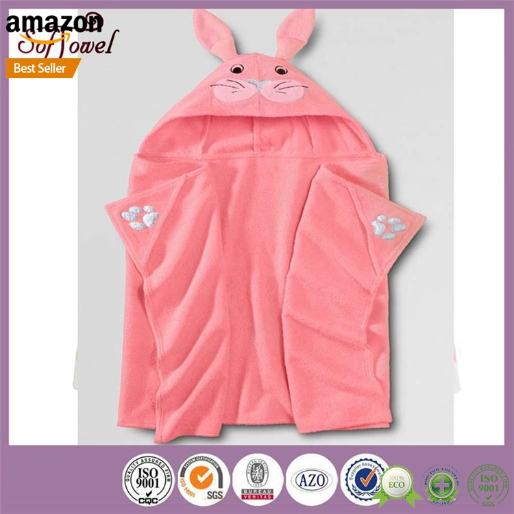 Plastic baby bath towel with hood for wholesales