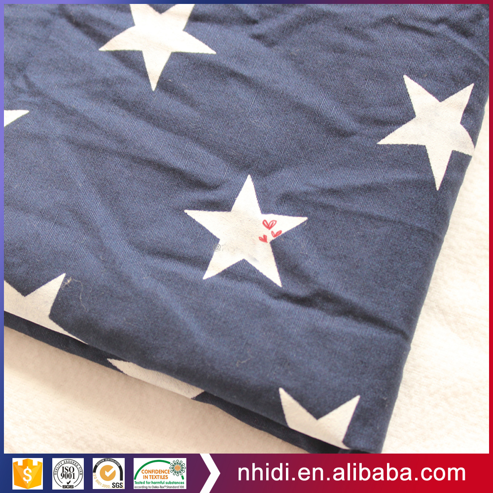 100% Cotton 20*20 60*60 star printed canvas fabric