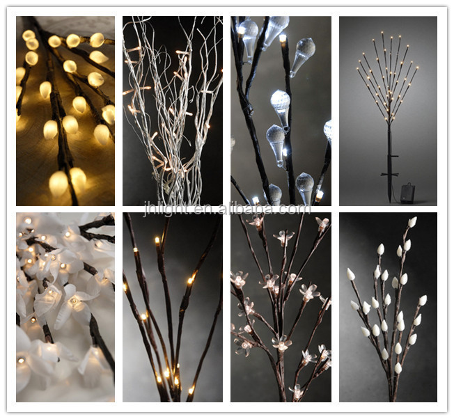 led warm white decorative tree branch lights christmas tree led