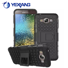 Fashion thunder armor hard plastic hard back case cover for samsung galaxy e7 armor case