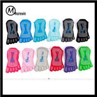 Morewin wholesale socks manufacturer made none slip five toe Pilates barre Yoga socks