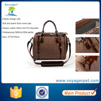 Lovoyager Classic Cotton Pet Carrier Dog Cat Carrier Bag
