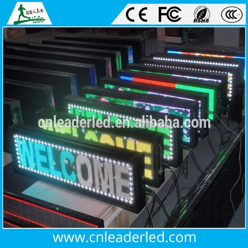digital scrolling full color Outdoor LED moving sign