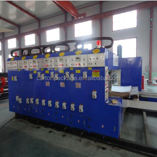 best price paperboard flexo printing slotter machine/carton packing equipment