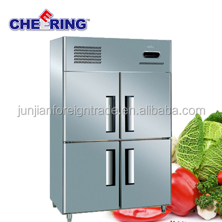 1.0LG Industrial refrigeration equipment stainless steel upright fridge freezer for hotel and restaurant with CE