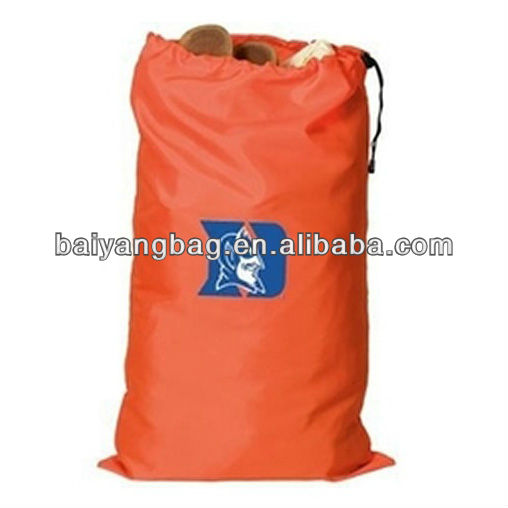 210D nylon large pull string laundry bag with a toggle