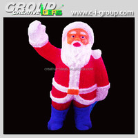 animated large light up Santa Clause, Christmas Acrylic 3D Santa Claus, Led lighted acrylic Santa decoration