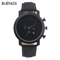 Classic Simple Business Leather Band Men Sports Wrist Watches