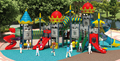 Kaiqi Hot selling plastic outdoor playground castle series amusement game KQ60056A