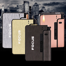 Yanzhen YH-001 dual-use automatic pop-up protection cigarettes 10 loaded windproof lighter cigarette case