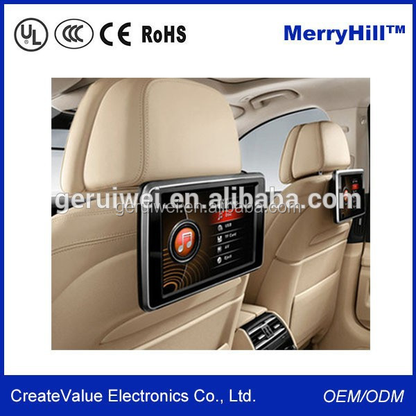 Headrest Placement 10/ 12/ 15/ 17/ 19/ 22 Inch Back Seat LCD 3G WIFI Bus Advertising Screen