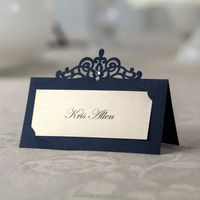 laser cut design place card, name card for wedding decoration 24pcs per Pack CP502