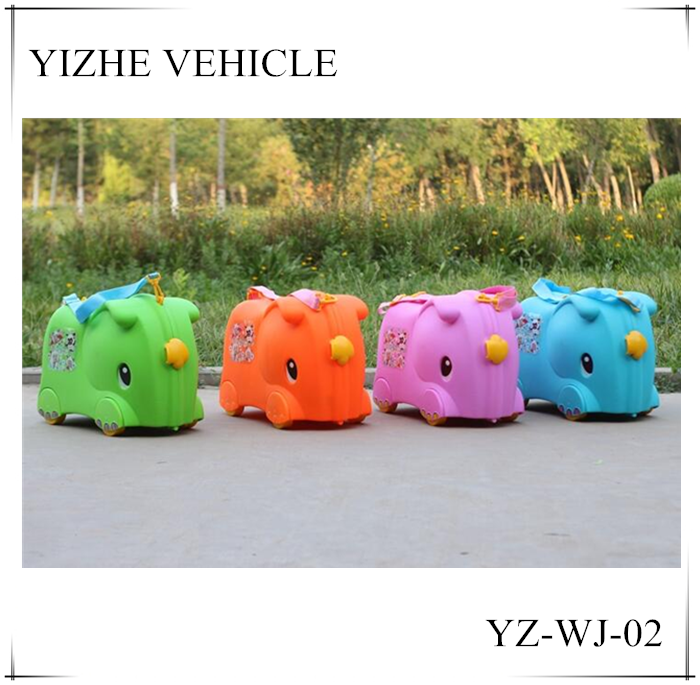 Hot-selling colorful Children luggage bag suitcase/Baby ride on toy luggage