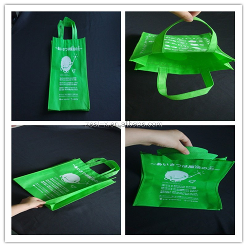 Environmental! Green color non-woven bags for shopping