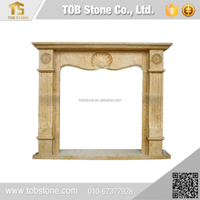 Customized marble fireplace surround