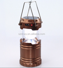 Solar Panel rechargeable lamp led solar camping lantern