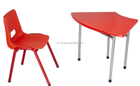 Hot sales kids table chair, student table and chair, colorful desk and chair for children school furniture