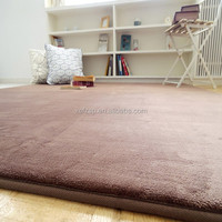 Luxury microfiber brown carpet rug for living room