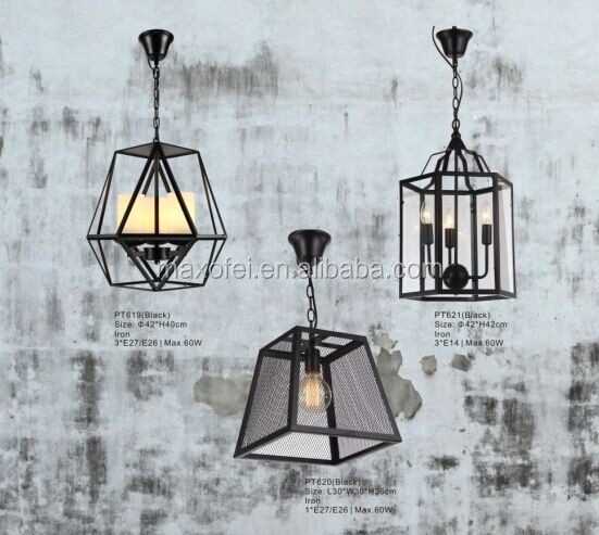 LOFT cage filament pendant aged steel Vintage industrial indoor pendant light with E27 Edison